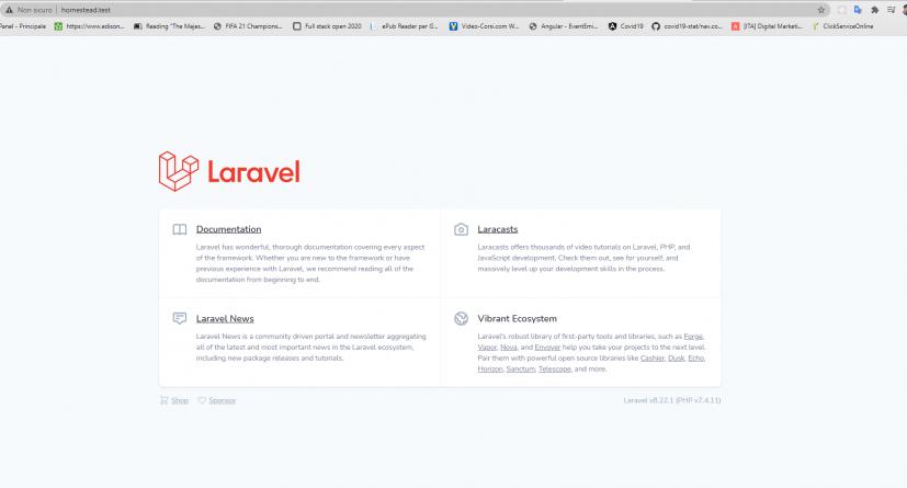 laravel homestead