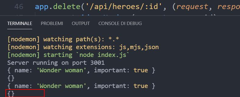 Error type dati